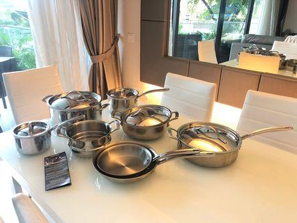 🚚 13 piece Try-Ply Clad Stainless Steel Cookware