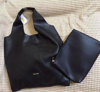 SALE Original Black Hush Puppies Hobo Bag