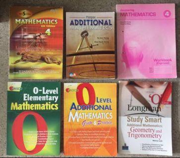 O Level Maths Textbooks and assessment Books