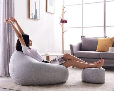 Big beanbag with stool set