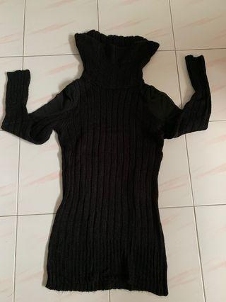 Knitted Turtle Neck Sweater/dress
