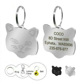 [Pre-Order] Personalized Cat ID Tags Custom Engraved Cats Name Tag