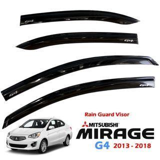 Mitsubishi Mirage G4 2013-2018 OEM Sun Guard Window Visor Rain Visor Protection