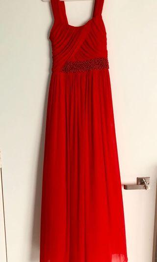 Red Dress chiffon