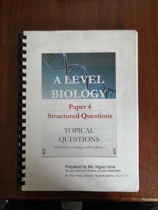 BIOLOGY A LEVEL P4 AND P5 (PARTLY DONE)