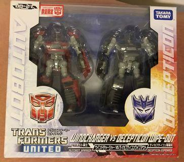 全新變形金剛Transformers Tomy限定版 United Windcharger 戰士 vs Decepticon Wipe-out 諜報兵