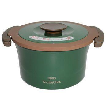 現貨 最後一個 特價 $699 3l thermos真空煲 鍋 綠色