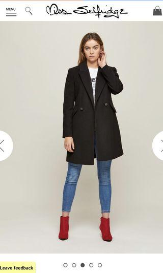 Miss Selfridge black winter coat