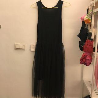 🚚 黑色紗裙