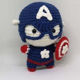 Handmade Marvel Doll - Captain America