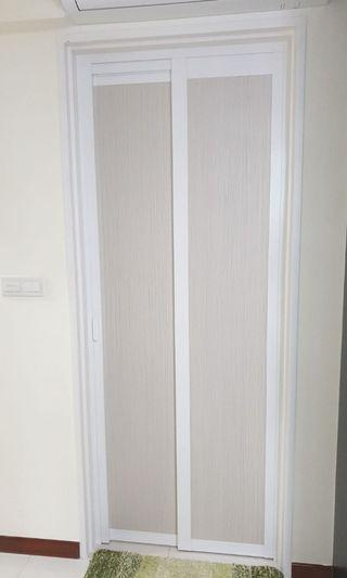 Slide Fold & Swing Aluminium Toilet Door