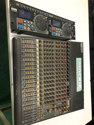 mixer mackie 16channel