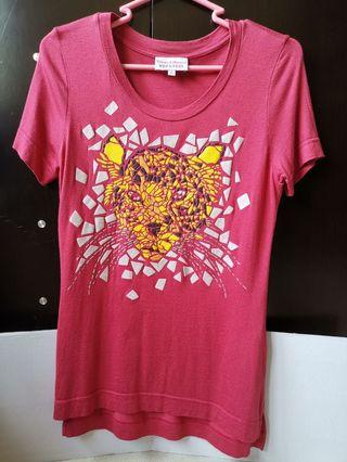 Vivienne Westwood Red Label 老虎pattern紅色t shirt