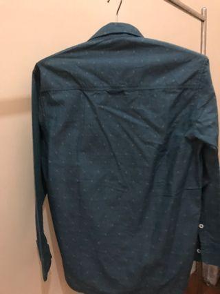 ®️sch Long Shirt Green Pattern