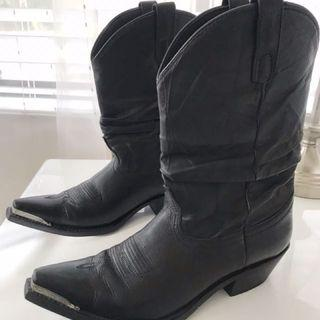 Authentic leather cowboy boots