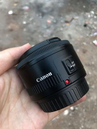 Lensa Fix Canon 50mm F1.8 ii Mulus