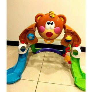 🚚 美國進口 Fisher-Price 費雪牌 可愛瑜伽熊家族 嬰幼兒 兒童體感益智玩具 聲音及閃光 互動AI教學
