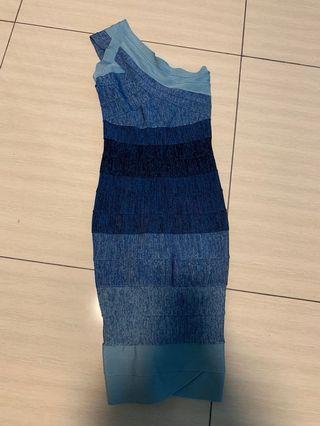 Bondage Ombré Blue Dress