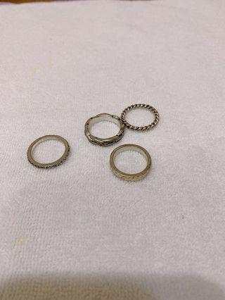 古著 四件組 戒指