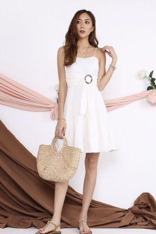 LF: TJM Sunday Brunch Linen Buckle Dress