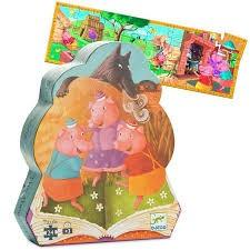 Preowned Djeco 3 little pigs jigsaw puzzle