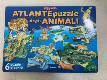 Puzzle (In Italian)義大利文動物拼圖