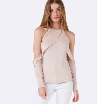 Gabriella cold shoulder top