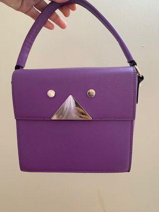 Mini purple bag