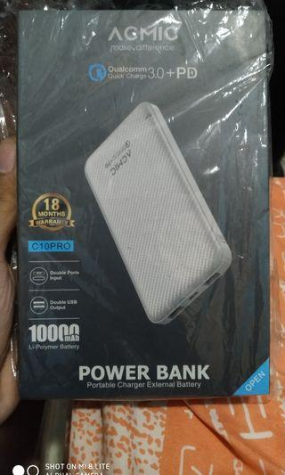 Powerbank Acmic C10 Pro C10Pro Hitam quick charge 10000 mah