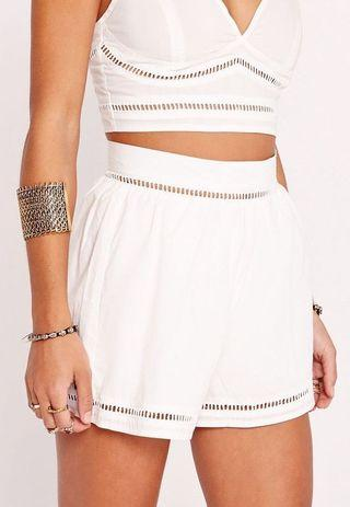Missguided High waisted linen shorts