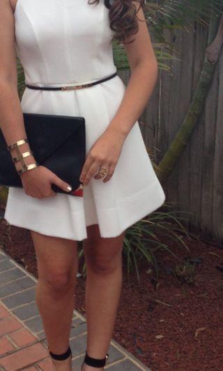 SHEIKE WHITE DRESS FORMAL