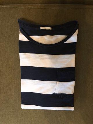 🚚 GU 條紋圓領上衣(長袖)