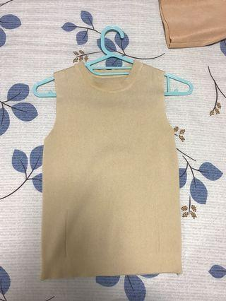 Basic nude cream top