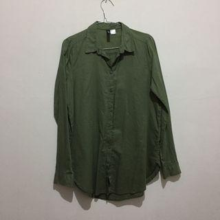 H&M Green Army Shirt (Nett)