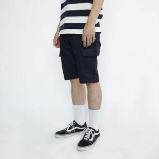 🚚 【全新轉賣】SHTICK BRC-S01 口袋工作短褲(深藍)