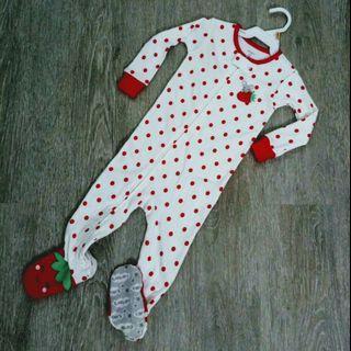 NEW  Carter's Girl Long Sleeve Sleepwear / Playsuit  12M
