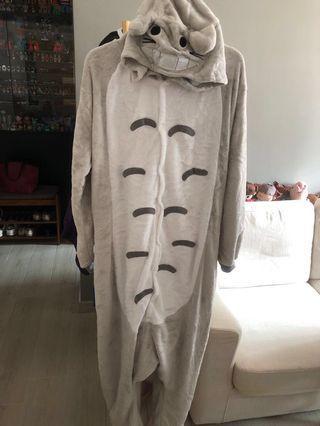 Totoro 龍貓Cosplay 長衫睡衣綿質地 L碼