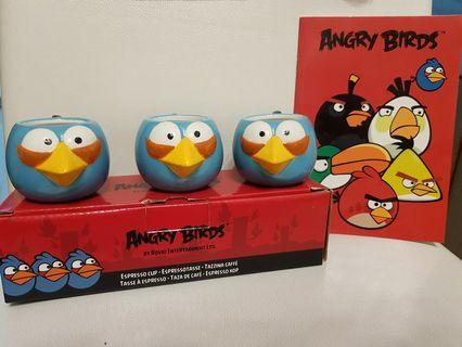 Angry Bird Espresso Cups + Angry Bird Notebook