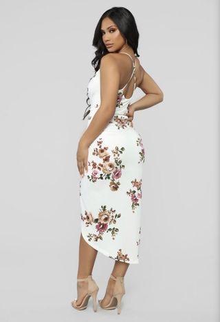 Flourishing beauty floral midi dress