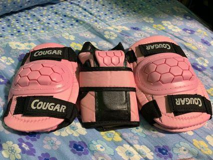 Pink protective gears for kids
