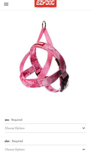 🚚 Ezydog Quick Fit Dog Harness (Pink Camo Size S)