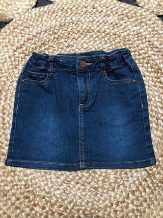 Dark Denim Mini Skirt 5