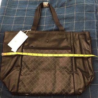 BNWT Porter International Code Series Black Leather Tote Bag