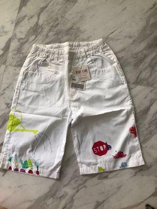 White with floral printed pants for 5-8 yrs old