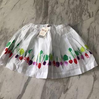 🚚 Pretty cotton comfy Floral Skirt for 7-9 year old