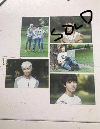 Bts official 2nd muster mini photo cards photocards kpop