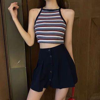 🚚 Striped Halter Top