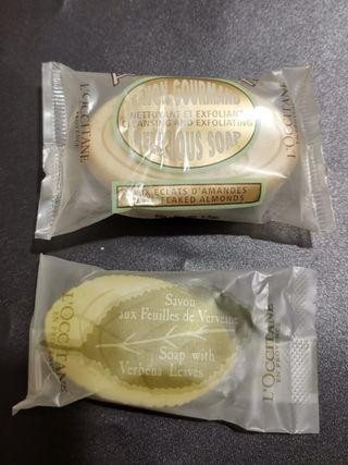 L'Occitane soaps (Exfoliating Almond, Verbena Leaves)