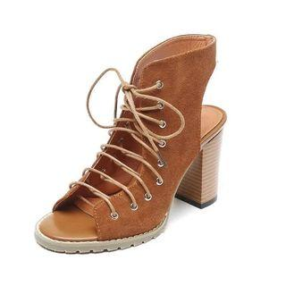 Brand New Lace Up Cage Heels Roman Gladiator Sandals Shoes Womens