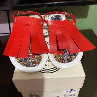 Authentic Kenzo Sandals Red/White